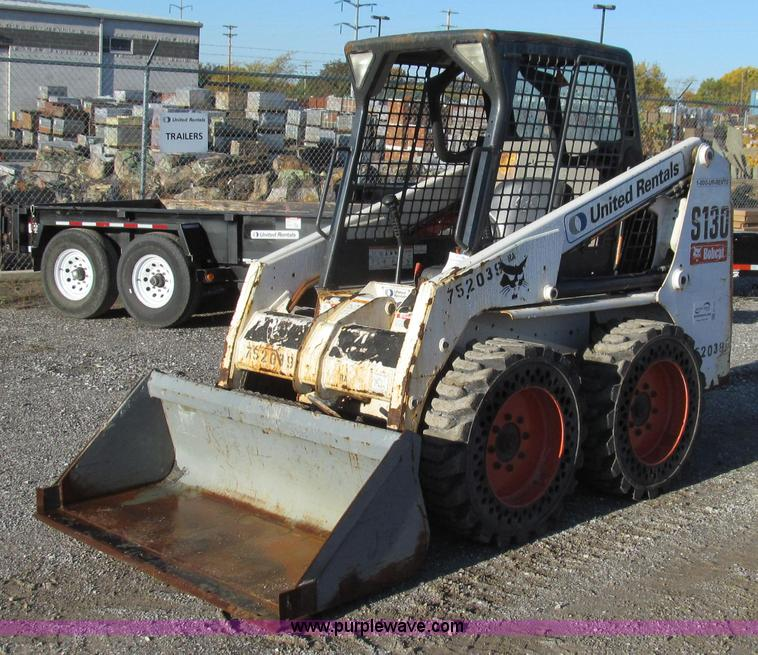 G2167.JPG - 2008 Bobcat S130 skid steer , 908 hours on meter , Kubota V2403 four cylinder diesel engine , 49 HP ...