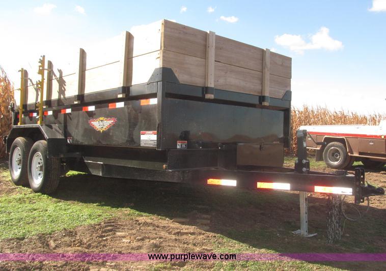 F7162.JPG - 2012 H amp H 14 tandem axle dump trailer , 24 quot H sides , 22 quot H wood side extensions , 6L x 1...