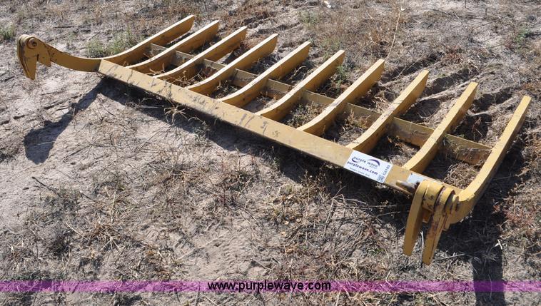 Landscape Root Rake : Caterpillar root rake no reserve auction on thursday
