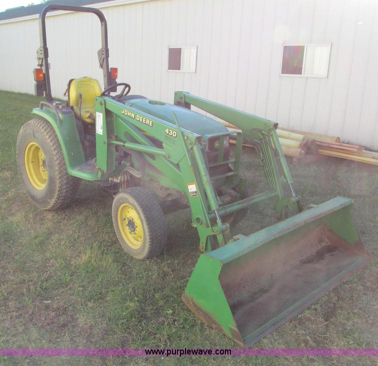G8943.JPG - John Deere 4310 tractor , 2,727 hours on meter , John Deere diesel engine , Three speed hydrostatic ...