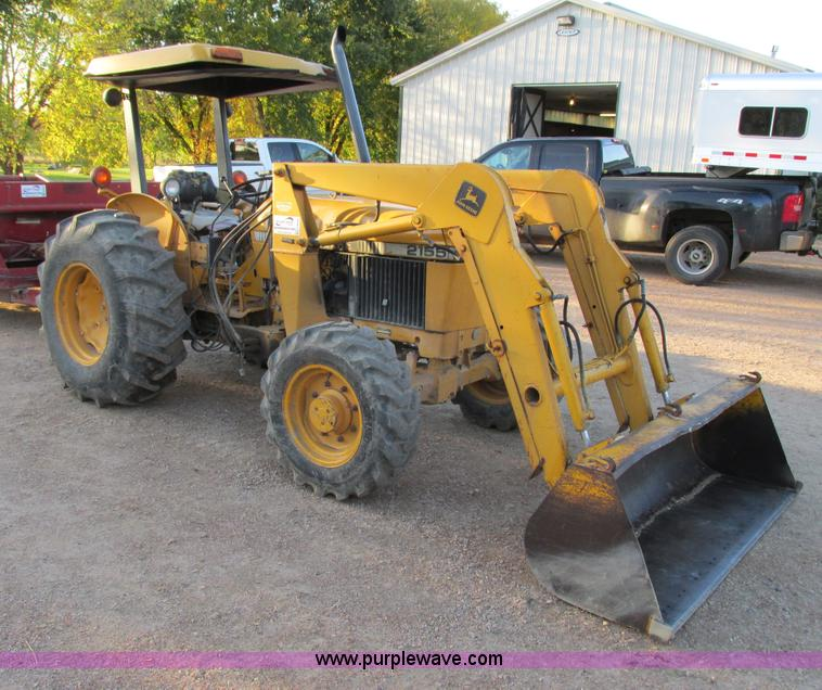 G8946.JPG - John Deere 2155 tractor , John Deere four cylinder diesel engine , Manual dual range transmission , ...