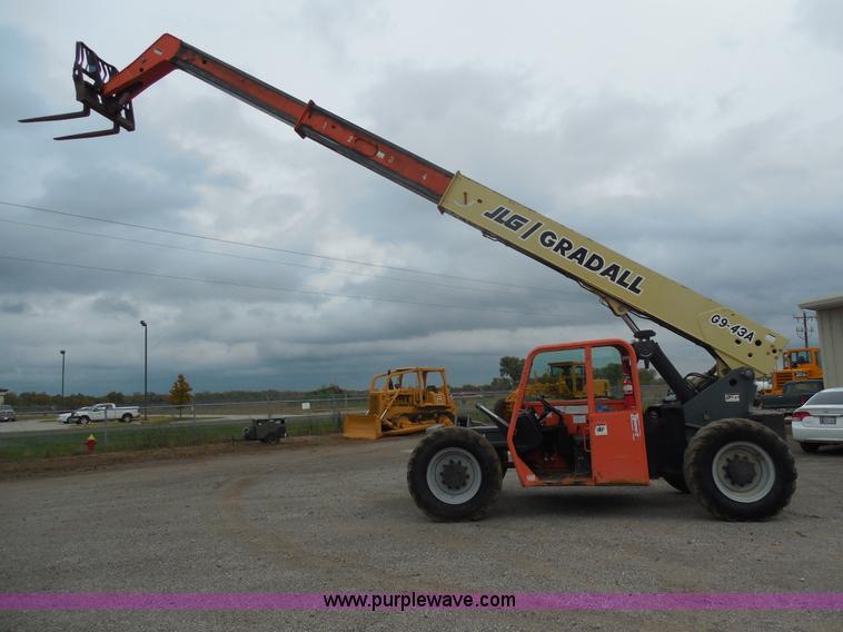 F3250.JPG - 2003 JLG Gradall G9 43A telehandler , 6,477 hours on meter , John Deere four cylinder diesel engine ...