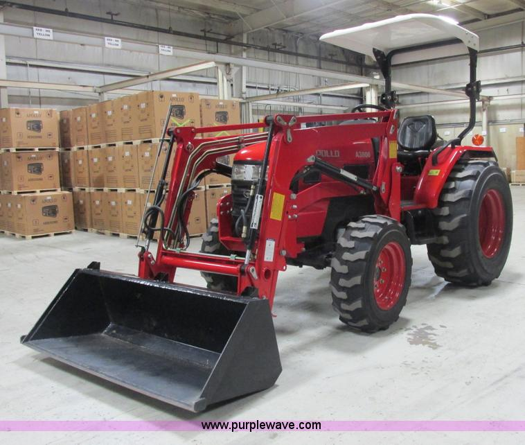 AB9315.JPG - 2008 Apollo A3800 tractor , 78 hours on meter , Three cylinder turbo diesel engine , 38 HP , Hi Lo s...