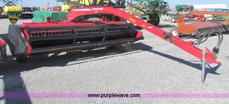 AE9099.JPG - 2010 Massey Ferguson Hesston 1474 Hydroswing swather , 14W , 540 PTO , Steel crimpers , 11 15SL tire...
