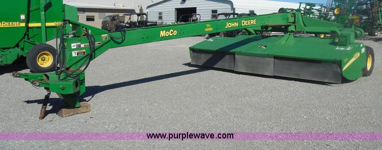 F3270.JPG - 2002 John Deere 956 146 quot center pivot disc mower conditioner , 1000 PTO , Rockshaft swivel hitch...