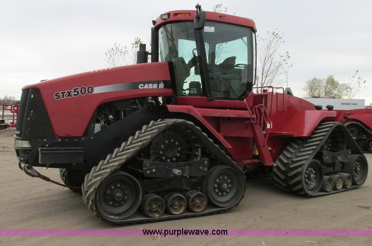 E5219.JPG - 2004 Case IH STX500 4WD Quadtrac tractor , 5,302 hours on meter , Cummins QSX15 A500 diesel engine ,...