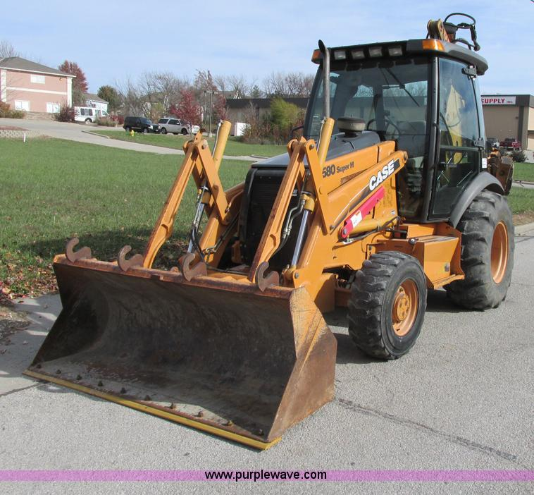 F5387.JPG - 2004 Case 580 Super M backhoe , 6,061 hours on meter , Four cylinder turbo diesel engine , 90 HP , F...