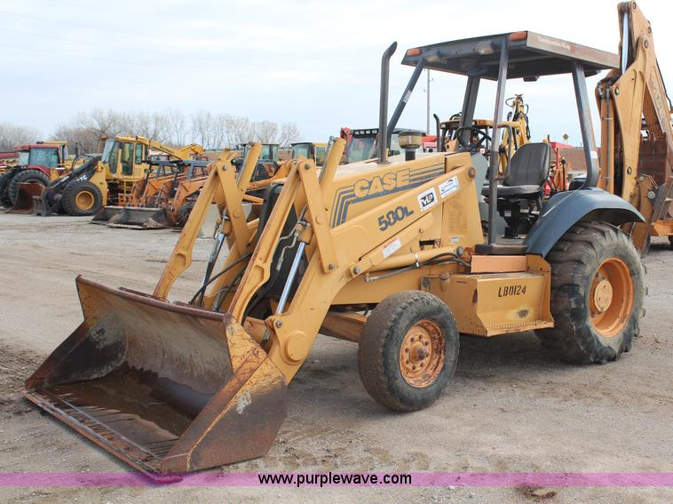 H7875.JPG - 1996 Case 580L backhoe , 5,637 hours on meter , Case four cylinder diesel engine , Four speed shuttl...