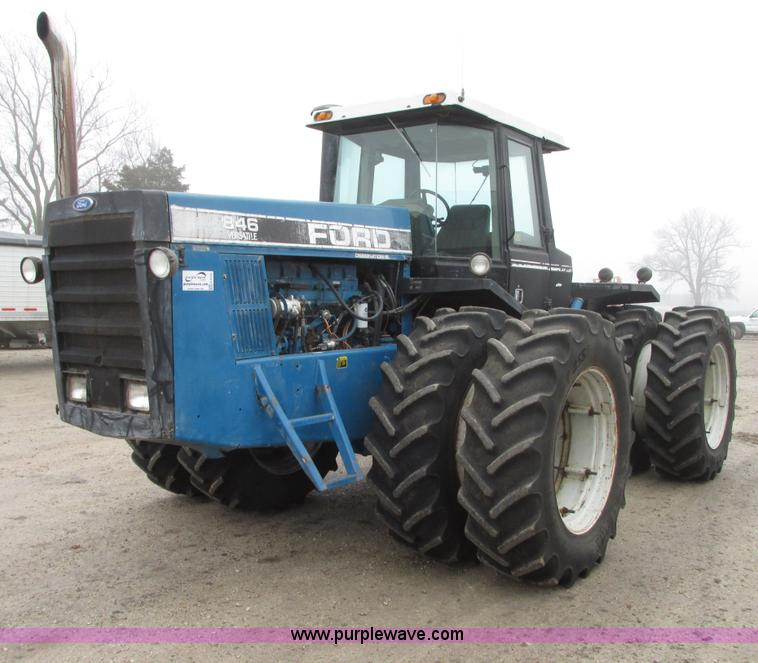 G9192.JPG - 1991 Ford 846 Versatile 4WD tractor , 6,281 hours on meter , Cummins L10 611 C I D six cylinder dies...