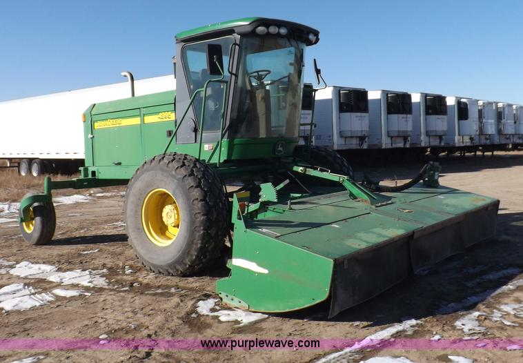I9238.JPG - 2007 John Deere 4995 swather , 2,301 engine hours on meter , 1,557 platform hours on meter , John De...