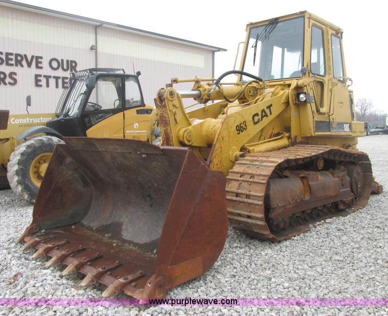 AB9308.JPG - 1990 Caterpillar 963 track loader , 10,568 hours on meter , Caterpillar 3304 diesel engine , AC , Un...
