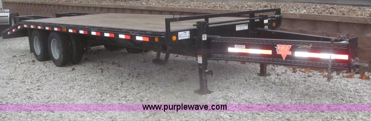 F7215.JPG - 2008 PJ 24 deck over tandem axle trailer , 188 quot L x 87 1/4 quot W wood deck , 66 quot L x 97 1/4...