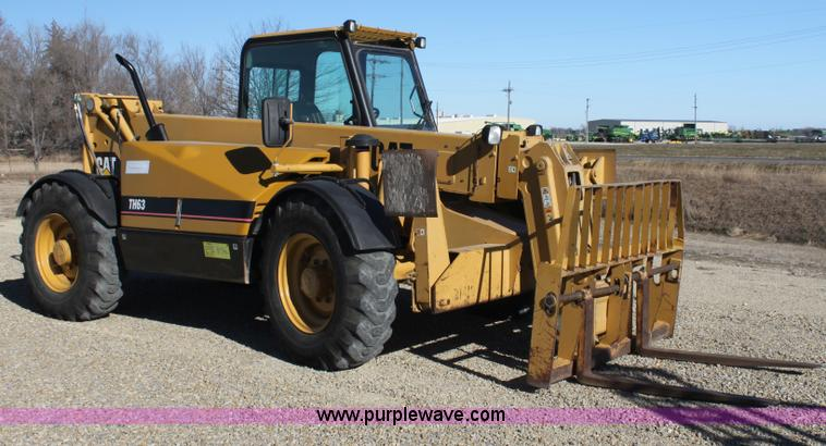 G4452.JPG - 2000 Caterpillar TH63 telehandler , 2,665 hours on meter , Caterpillar 3054 four cylinder diesel eng...