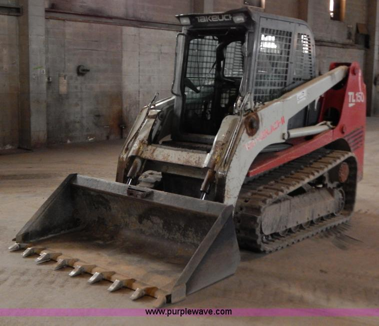 H3916.JPG - 2007 Takeuchi TL150 skid steer , 3,668 hours on meter , Yanmar 4 412L four cylinder diesel engine , ...