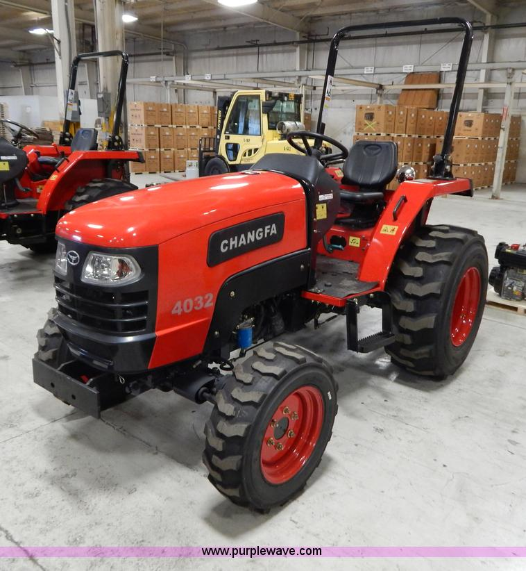 AO9243.JPG - 2012 Changfa 4032 MFWD tractor , 5 3 actual hours , Three cylinder direct injection diesel engine , ...