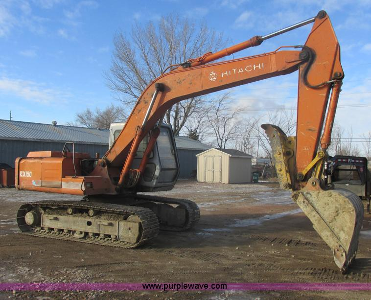 E5265.JPG - 1989 Hitachi EX150 excavator , 8,282 hours on meter , Hours may vary, still in use , Isuzu diesel en...