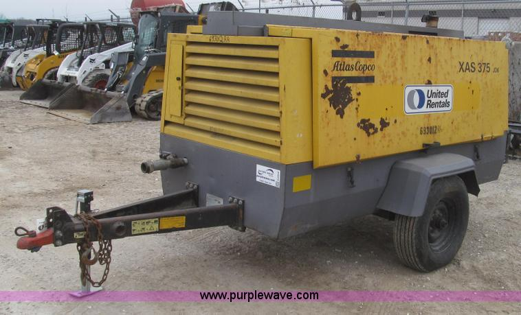 G2254.JPG - 2007 Atlas Copco XAS375JD6 air compressor , 3,456 hours on meter , John Deere PowerTech 4 5L four cy...
