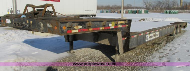 G9171.JPG - 2007 Ledwell LW48 HT2 10 PB equipment trailer , 48L x 102 quot W , 94 quot upper deck , 388 quot low...