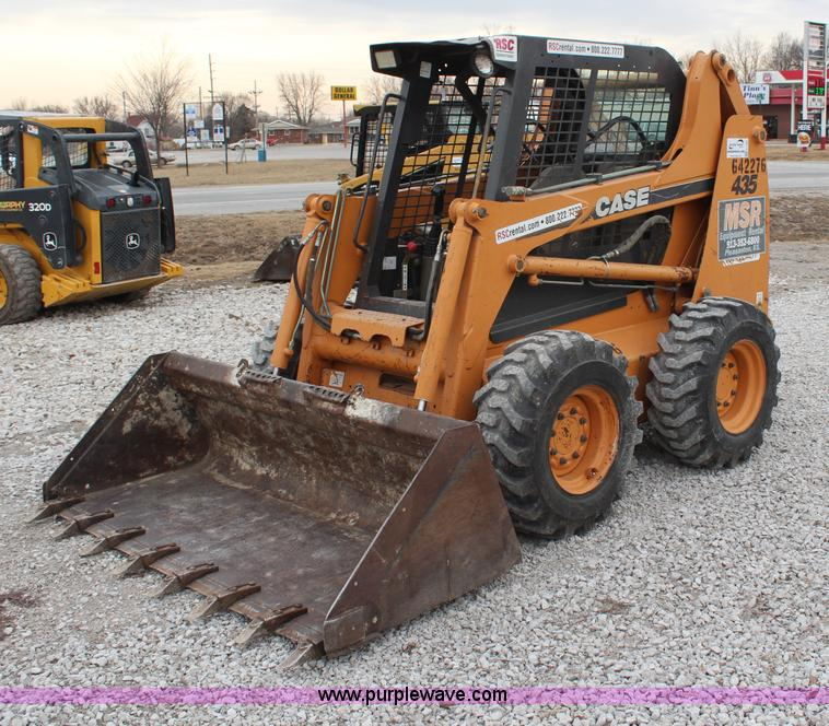 H1380.JPG - 2006 Case 435 skid steer , 889 hours on meter , Case 3 2L four cylinder turbo diesel engine , 81 HP ...
