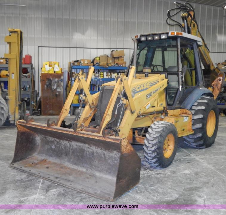 I1233.JPG - 1995 Case 590 Super L backhoe , 6,494 hours on meter , Cummins four cylinder turbo diesel engine , S...