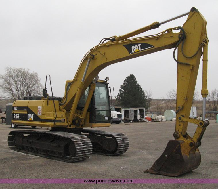 I5709.JPG - 1998 Caterpillar 315B L excavator , 9,127 hours on meter , Caterpillar six cylinder diesel engine , ...