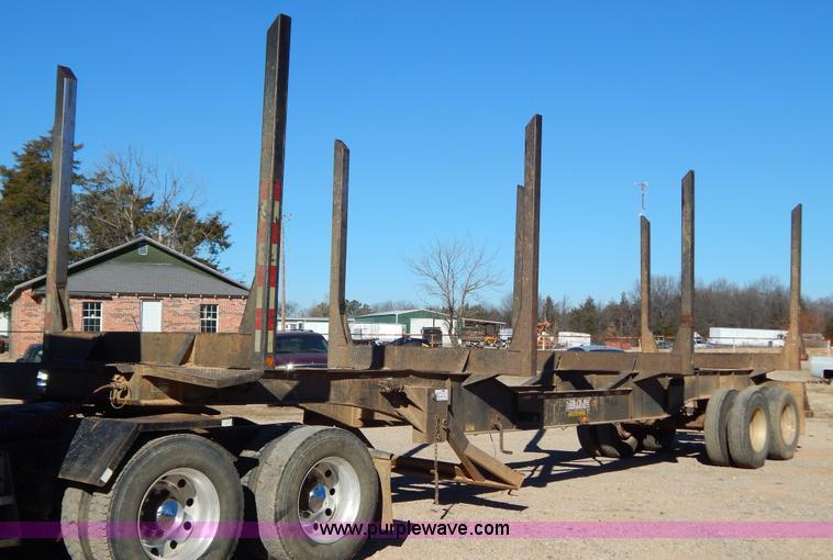 B4837.JPG - 2001 Pitts LT 40 8 L log trailer , 40L x 8W , Spring suspension , Air brakes , 11R24 5 tires , GVWR ...