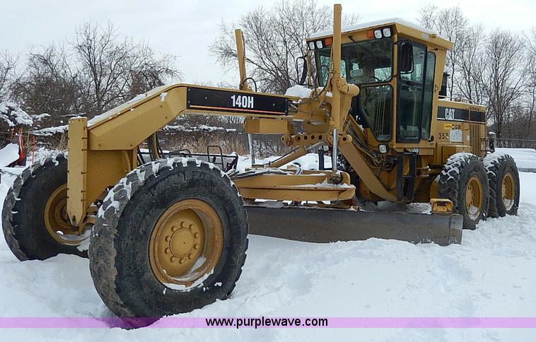 H1314.JPG - 1999 Caterpillar 140H articulated motor grader , 10,984 hours on meter , Caterpillar 3306 six cylind...