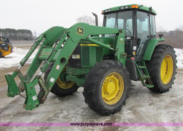 G8824.JPG - 1999 John Deere 7410 MFWD tractor , 3,099 hours on meter , 13,099 total hours, hour meter has rolled...