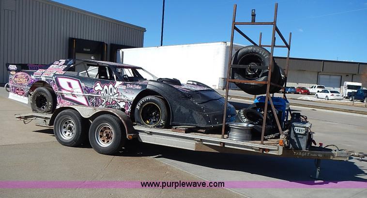 I9394.JPG - Race car and trailer , Monte Carlo street stock race car , Chevrolet 350ci small block V8 gas engine...