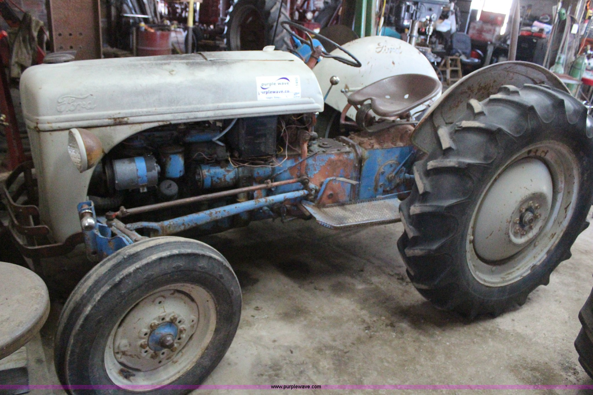 Ford 8n Tractor Front Tires : Ag equipment auction in arkansas city kansas by purple