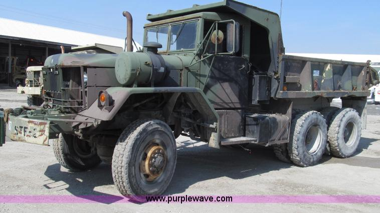 G2307.JPG - 1968 Jeep M817 dump truck , 21,579 miles on odometer , 1,905 hours on meter , Cummins six cylinder d...