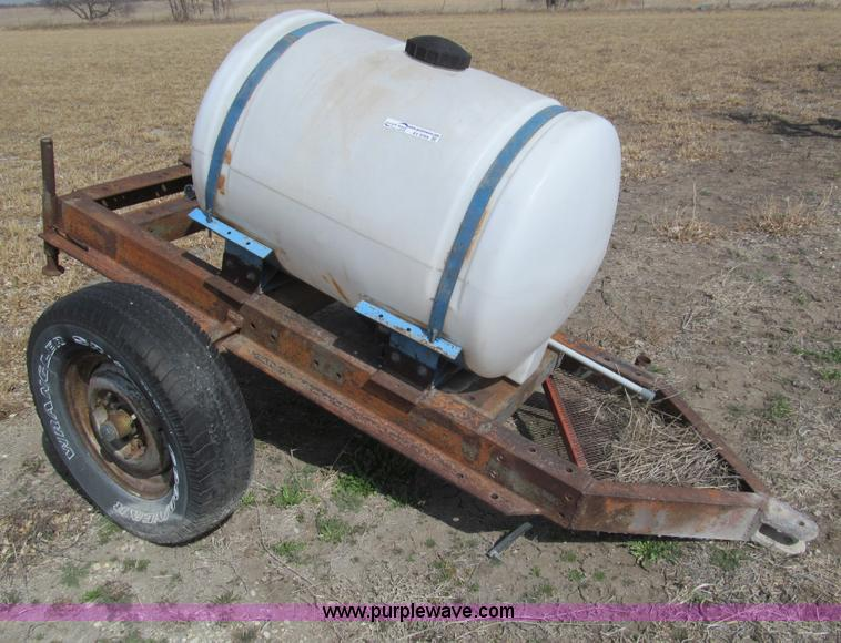 Poly Tank Trailer : Gallon poly water tank trailer no reserve auction on
