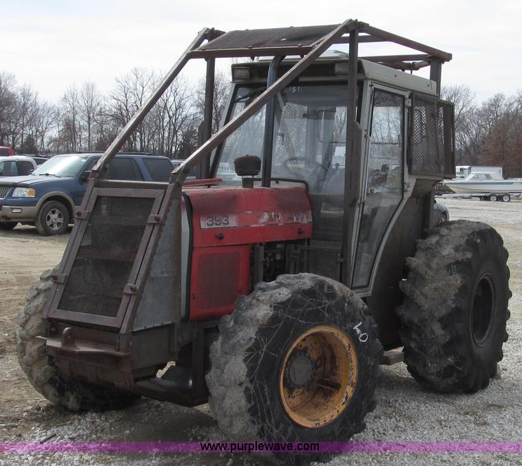 G2315.JPG - 1993 Massey Ferguson 393 MFWD tractor , 1,296 hours on meter , Perkins 7559/2200 four cylinder turbo...