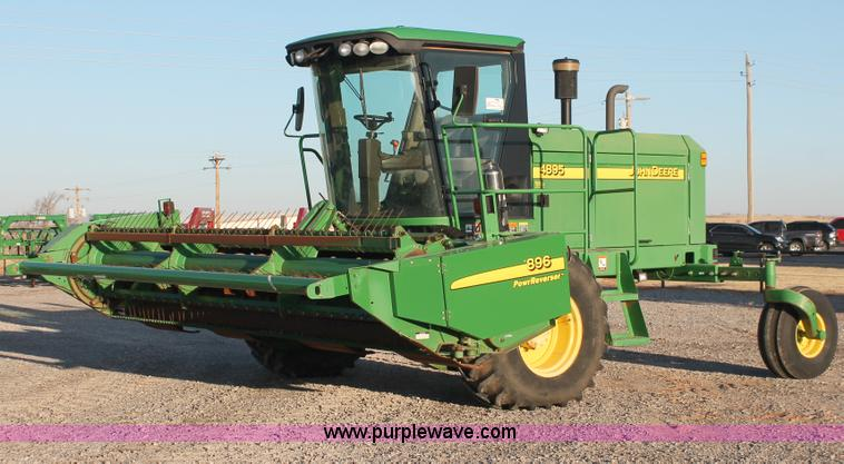 H5749.JPG - 2006 John Deere 4895 self propelled swather , 732 hours on meter , Approx 952 total hours , John Dee...