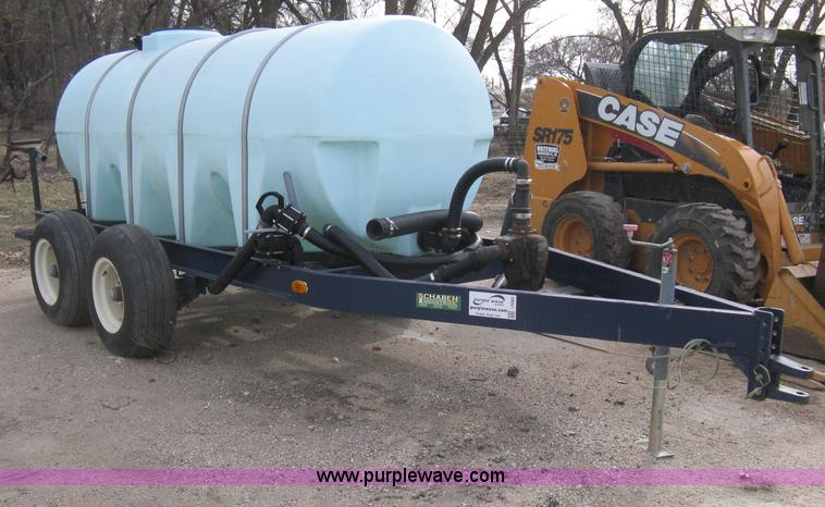 Poly Tank Trailer : Schaben water tanker trailer no reserve auction on