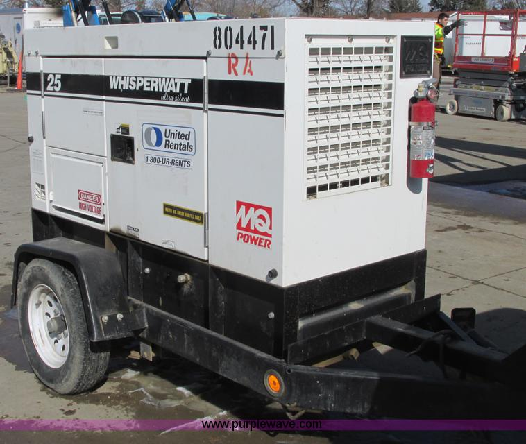 No Reserve Auction On Tuesday May 07: 2010 Multiquip DCA25USI2C Generator