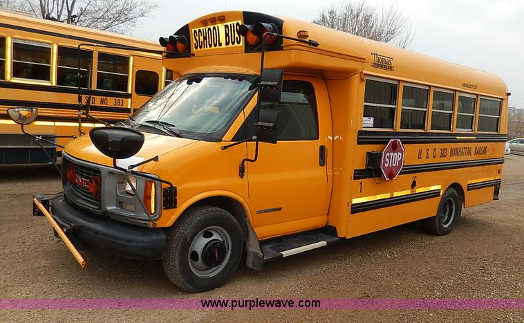 2002 Gmc Savana G3500 Thomas School Bus No Reserve