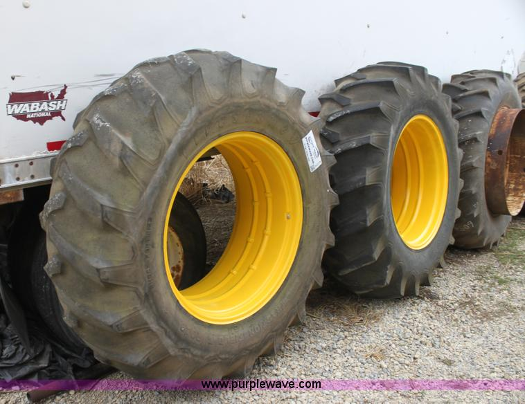 34 Tractor Tires And Rims : Firestone rear tractor tires and john deere