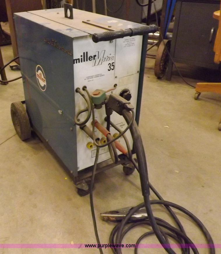 miller matic 35 wire feed welder no reserve auction on tuesday june 03 2014