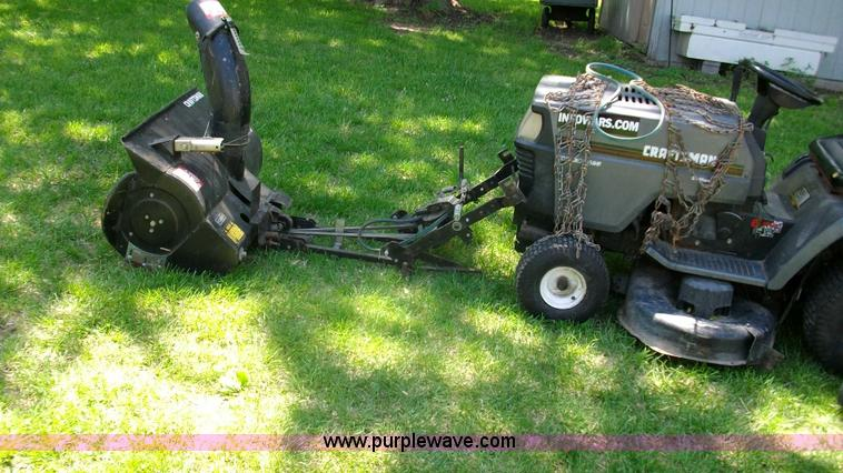 Craftsman Riding Mower With Snow Thrower Attachment No Reserve Auction On Wednesday June 11