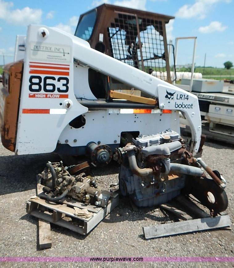 vehicles and equipment auction colorado auctioneers association 1998 bobcat 863 skid steer
