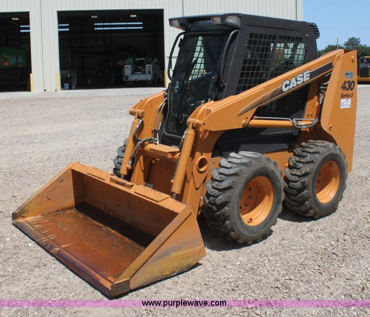 Case 430 Diesel : Case series skid steer no reserve auction on