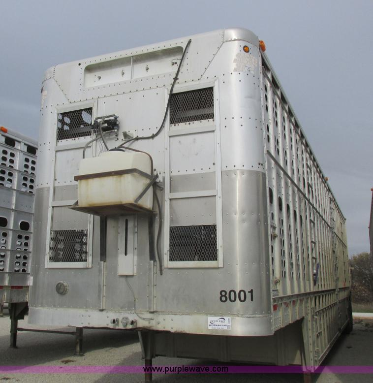 No Reserve Auction On Tuesday May 07: 1999 Wilson PSDCL-302P Aluminum Livestock Trailer