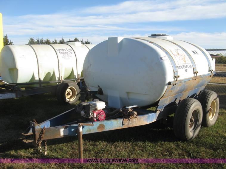 Poly Tank Trailer : Biby gallon nurse tank trailer no reserve auction