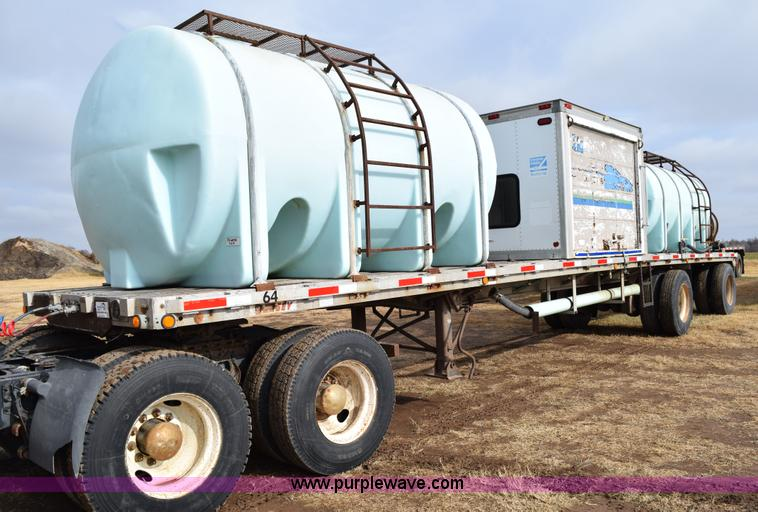 Poly Tank Trailer : Dorsey flatbed tender trailer no reserve auction on