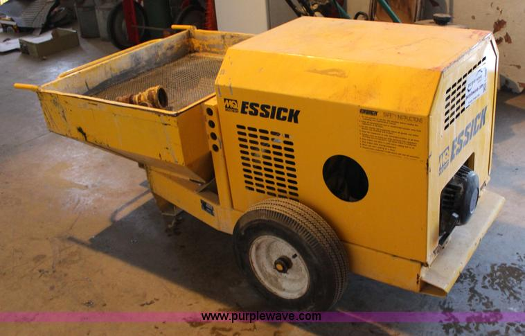 L6667 jpg essick fm9 grout pump wisconsin single for Essecke roller