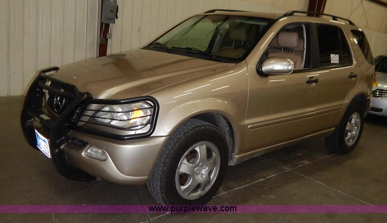 2002 mercedes benz ml320 suv no reserve auction on for Mercedes benz ml320 suv