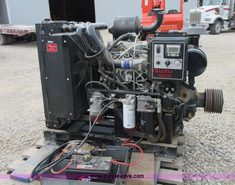 thursday 27 construction equipment auction in by purple 2007 isuzu ah 4hk1x diesel engine