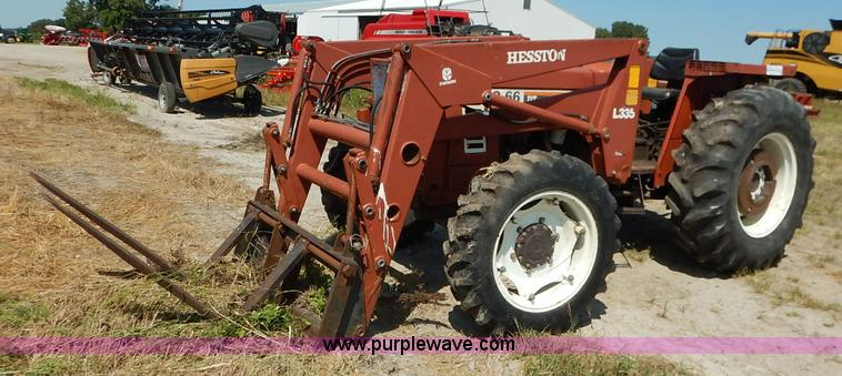 Fiat Hesston Tractors Farm : Fiat hesston dt mfwd tractor no reserve auction on