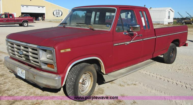 1985 ford f150 supercab pickup truck no reserve auction. Black Bedroom Furniture Sets. Home Design Ideas